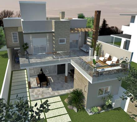 Piscinas tropicais por E+D Arquitetura