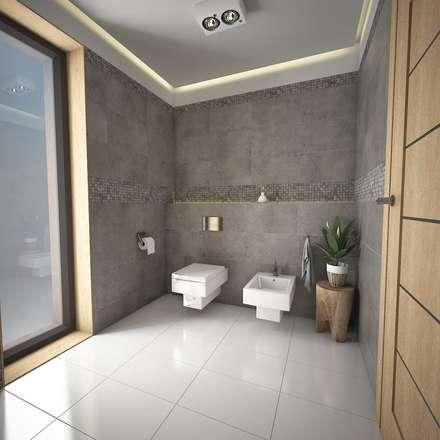 Propuesta 1: Baños de estilo moderno por José D'Alessandro