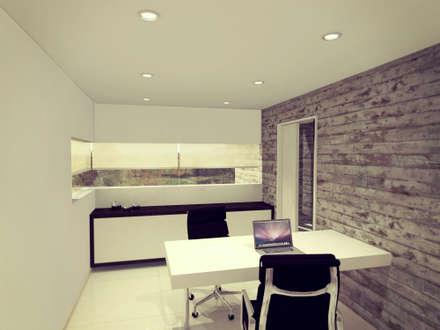 Estudio / oficina.: Estudios y oficinas de estilo moderno por Metamorfosis Arquitectura