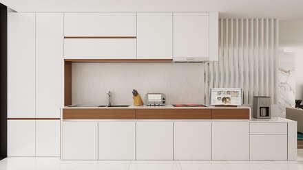 Moradia Unifamiliar T3: Cozinhas modernas por EsboçoSigma, Lda