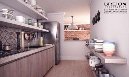 Cozinha: Cozinhas minimalistas por Breion Arquitetura
