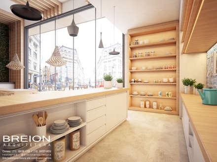 Restaurante: Adegas modernas por Breion Arquitetura
