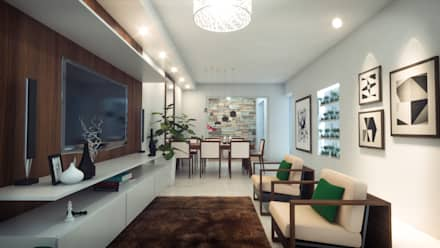 Diseño Interior Sala Comedor: Comedores de estilo moderno por Mauriola Arquitectos