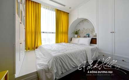 Căn hộ Park Hill Á-Đông-Đương-Đại 99m2:  Phòng ngủ by Công ty cổ phần NỘI THẤT AVALO