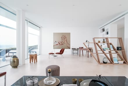 Casa Carrara Sala de Estar: Salas de estar modernas por Tendenza -  Interiors & Architecture Studio