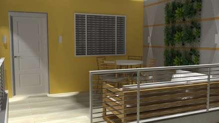 REMODELACION Y DISEÑO DE INTERIORES DE UN APARTAMENTO PARA VACACIONAR.  ACCESO : Casas de estilo moderno por Arq. Marynes Salas