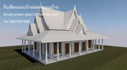 ศาลาวัด :  บ้านและที่อยู่อาศัย by รับเขียนแบบบ้าน&ออกแบบบ้าน