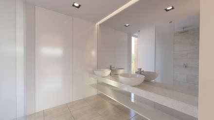 Vista da Casa de Banho do Quarto: Casas de banho minimalistas por Catarina Semião