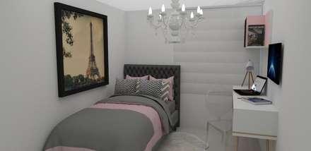 Habitacion glamour : Habitaciones de estilo clásico por Naromi  Design