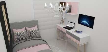 Habitación Elegante : Habitaciones de estilo clásico por Naromi  Design
