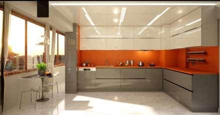 Vero Concept Architects – Hande Hanım Konut: modern tarz Mutfak