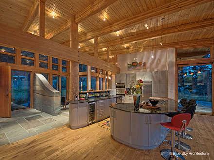Kitchen View: modern Kitchen by Helliwell + Smith • Blue Sky Architecture