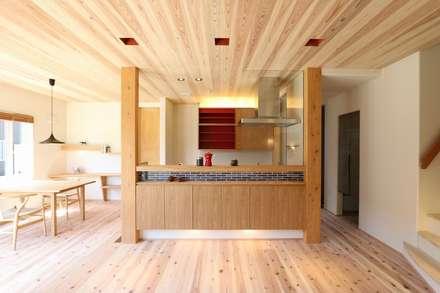 キッチン: AD-HOUSE/株式会社大喜建設が手掛けたキッチンです。