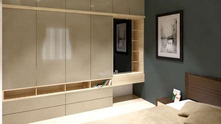 residence interior design: modern Bedroom by Artist Inside