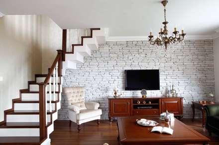 Öykü İç Mimarlık – Turkuaz Evleri: klasik tarz tarz Oturma Odası