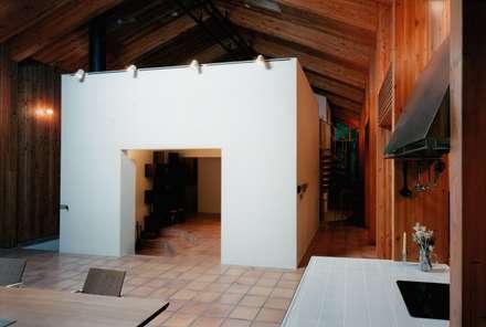 暖炉・リビング: 株式会社ラウムアソシエイツ一級建築士事務所が手掛けたリビングです。