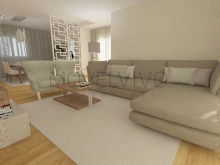 3D Living Room: modern Living room by Movelvivo Interiores