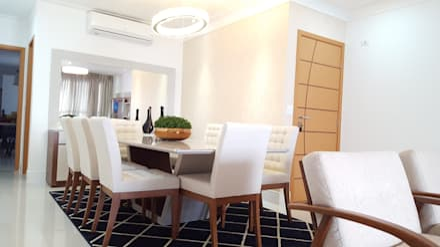 Projeto de Interiores: Salas de jantar modernas por Maria Fernanda Antoniette