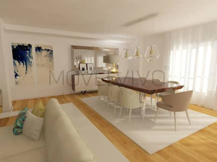 Standard Dining Room: minimalistic Dining room by Movelvivo Interiores