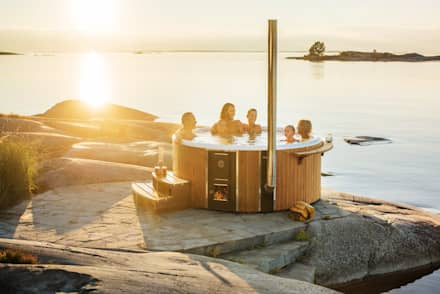 Skargards Rojal : scandinavisch Zwembad door Skargards Hot Tubs NL