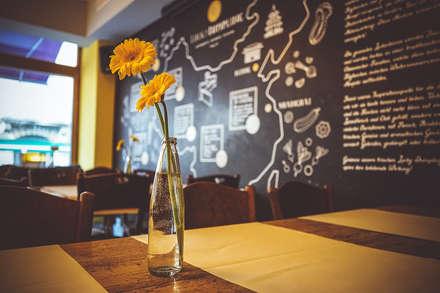 Interior Design im Restaurant Lucky Dumpling, Zürich:  Gastronomie von The Harrison Spirit