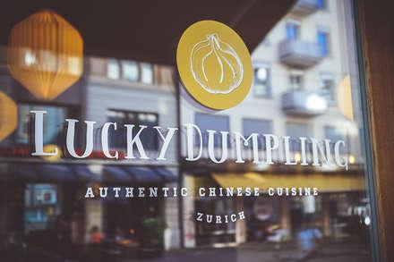 Das Corporate Design des Restaurants Lucky Dumpling, Zürich:  Gastronomie von The Harrison Spirit