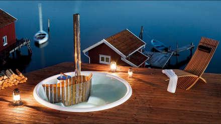 Le Terrass de Skargards: Piscine de style de style Scandinave par Skargards Bains Suédois