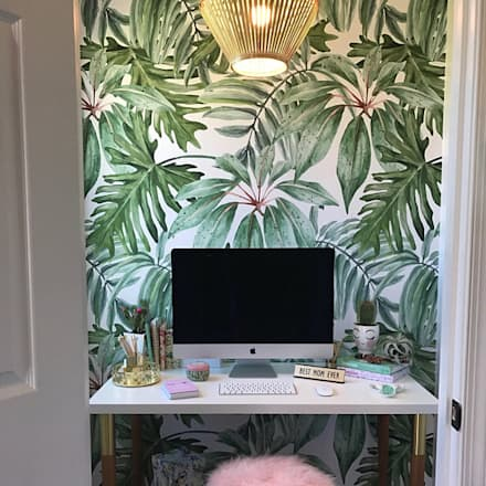 Banana Leaf   Wallpaper   Adhesive Fabric: Tropical Study/office By  Moonwallstickers