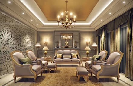 Charmant Luxury Kerala House Traditional Interior Design: Asian Living Room By  Comelite Architecture, Structure And
