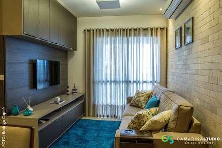 rustic Living room by Camarina Studio