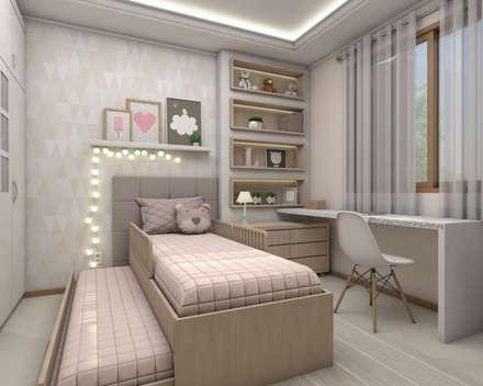 Dormitório infantil: Quarto infantil  por Bruna Schuster Arquitetura & Interiores