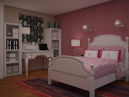 modern Nursery/kid's room by JMS DISEÑO DE INTERIORES MUEBLES Y CONSTRUCCION