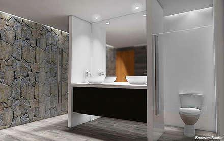 Baño principal: Baños de estilo moderno por Smartlive Studio