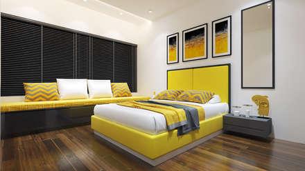 2 bedrooms : minimalistic Nursery/kid's room by The Red Brick Wall