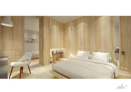 Master Room: scandinavian Bedroom by studioalo