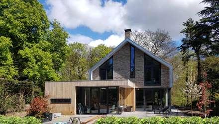Tuingevel: moderne Huizen door TS architecten BV
