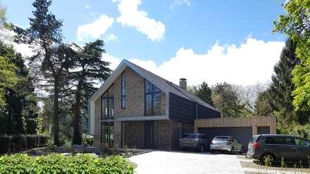 Voorgevel: moderne Huizen door TS architecten BV