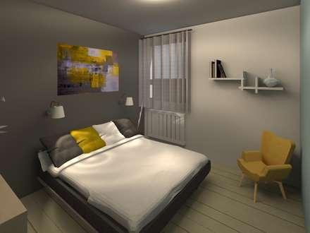 Homestaging 3d: Chambre de style de style Scandinave par LSAI
