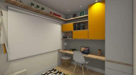 modern Study/office by Espaco AU