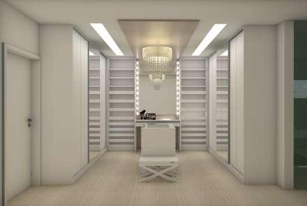 minimalistic Dressing room by Matos Xavier Arquitetura