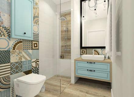 Ciepła mała łazienka: styl , w kategorii Łazienka zaprojektowany przez Esteti Design