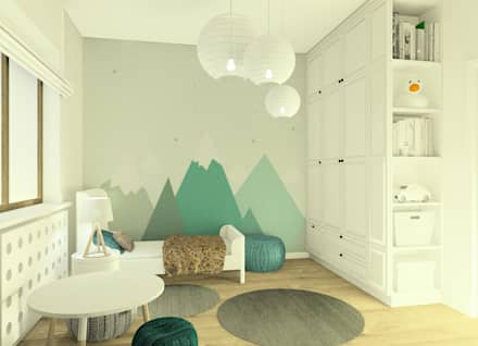 scandinavian Nursery/kid's room by Esteti Design