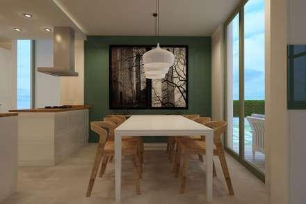 Zeus Tasarım Ltd. Şti. – Köprülü Ev: modern tarz Yemek Odası