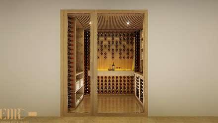 klasieke Wijnkelder door Edr Cristal - Adegas Climatizadas