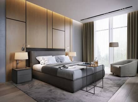 BED ROOM: modern Bedroom by Archie-Core