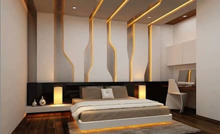 bed room modern bedroom by archie core - Interior Bedroom Design Ideas