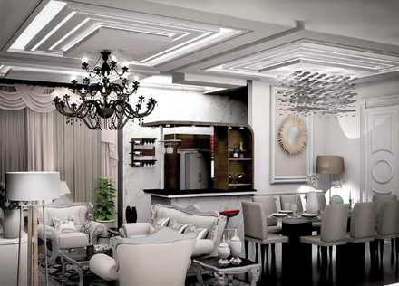 Living room:  Ruang Keluarga by Axis Citra Pama