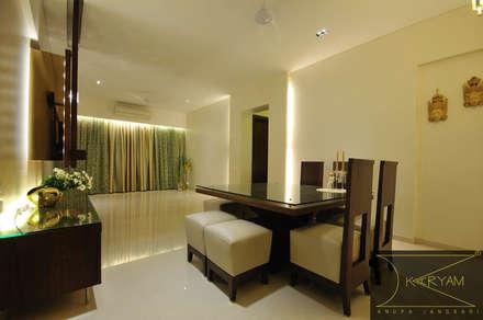 sewri residence: minimalistic Dining room by Karyam Designs