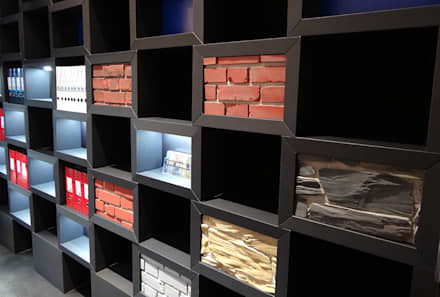 Messestand aus Papier - Anwendungsbeispiel Messestand für Gerriets GmbH, Stage Set Scenery 2015, Berlin:  Messe Design von spek Design