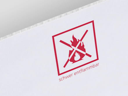 Schwerentflammbare Paper Box Wellpappe:  Messe Design von spek Design